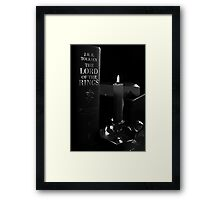 Book By Candlelight Framed Print