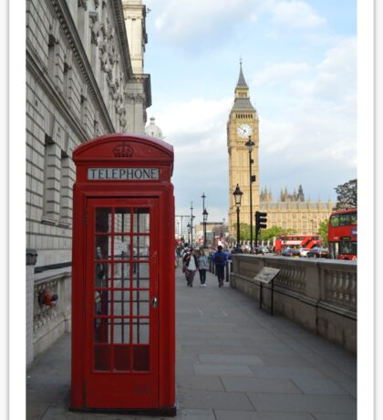 Big Ben and Red Telephone Booth Sticker