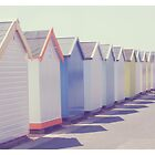 Beach Huts by Anna Davies