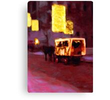 Christmas Carriage Ride In Vienna Canvas Print