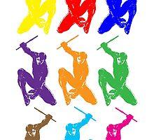 Nightwing Colour Art Print by GekiDesign
