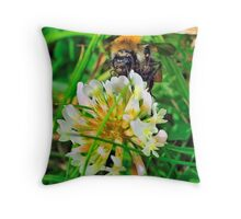 Bee On Flower 0035 Throw Pillow