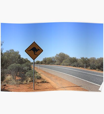 Kangaroos Crossing Poster