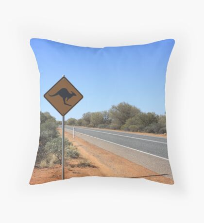 Kangaroos Crossing Throw Pillow