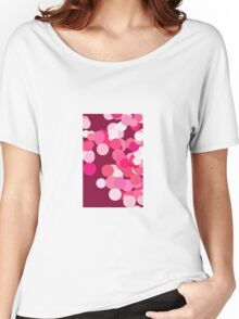 Pink Bokeh Women's Relaxed Fit T-Shirt