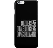 Super.Who.Lock (white on black version) iPhone Case/Skin