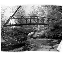Cedar Creek Upper Falls Bridge Poster