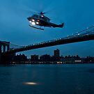 Brooklyn with Helicopter by mertozgur