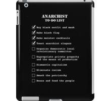 Anarchist To-Do List iPad Case/Skin