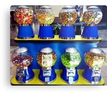 """""""What Ever Happen To The Days Of A Nickle Gum Ball Machine?"""" Metal Print"""