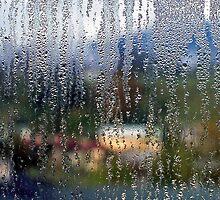 Window Condensation - Gasthaus Panorama - Berchtesgaden, Germany by David J Dionne