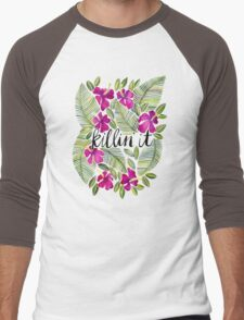 Killin' It – Tropical Pink Men's Baseball ¾ T-Shirt