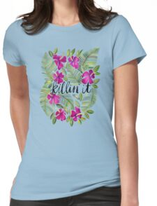 Killin' It – Tropical Pink Womens Fitted T-Shirt