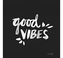 Good Vibes – White Ink Photographic Print