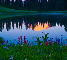 Tipsoo Lake Sunrise by RavenFalls