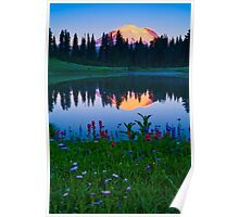 Tipsoo Lake Sunrise Poster