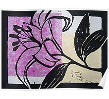 Oriental Lily - purple Poster