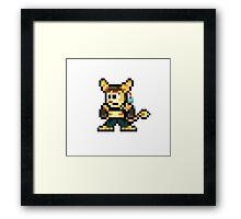 Ratchet & Clank Pixel Framed Print