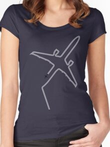 Contrails slight delay. Women's Fitted Scoop T-Shirt