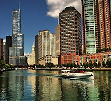 Along the Chicago River by Barbara  Brown