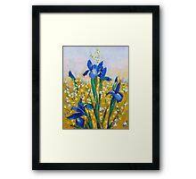 Iris and Forsythia Framed Print