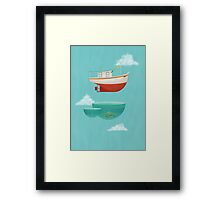 Floating Boat Framed Print