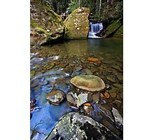 """Mini falls & rock Pool"" Photographic Print"