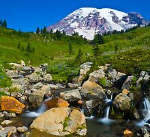 Mount Rainier and Edith Creek by RavenFalls