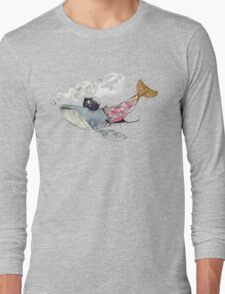 Pirate Whale Long Sleeve T-Shirt