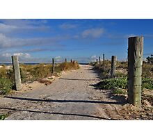 Walk To The Sand Dunes Photographic Print