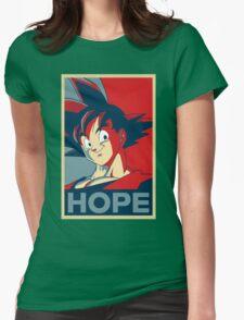 Hope! Goku Womens Fitted T-Shirt