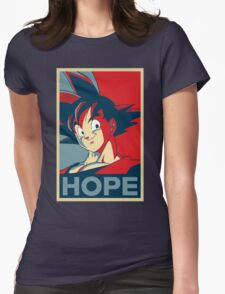 Hope! Goku Womens Fitted T-Shirt