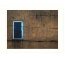 one window one wire one bird  Art Print