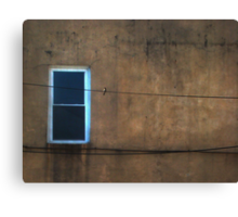 one window one wire one bird  Canvas Print