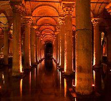 Yerebatan Sarayi (an underground cistern), Istanbul by Akif  Kaynak