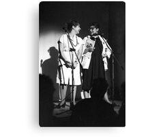 Mandy and Melanie Salomon perform at Sedition at The Sydney Trade Union Club 1983 Canvas Print