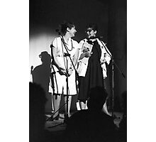 Mandy and Melanie Salomon perform at Sedition at The Sydney Trade Union Club 1983 Photographic Print