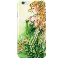 Lady in Green Steampunk Absinthe Fairy pillow iPhone Case/Skin