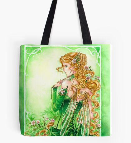 Lady in Green Steampunk Absinthe Fairy pillow Tote Bag