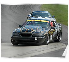 Mustang taking the Curve Poster