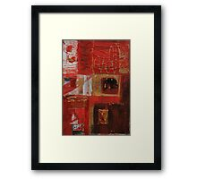 Vermillion and Gold  Framed Print