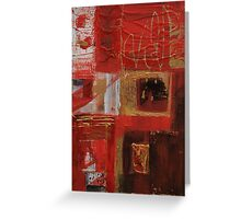 Vermillion and Gold  Greeting Card