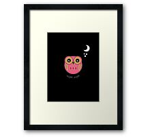 Night Night Pink Owl Framed Print