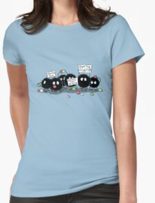 Dust Bunnies Womens Fitted T-Shirt