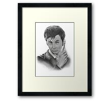 David Tennant from Doctor Who Framed Print