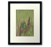 Patina Rain Framed Print