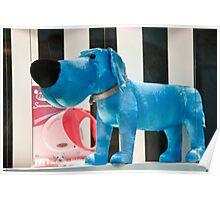 Blue Hound Dog Poster