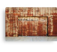 Rust Brushed Canvas Print
