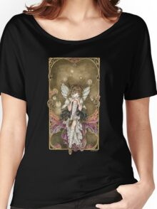 Gears and Glass Steampunk Fairy Women's Relaxed Fit T-Shirt