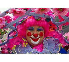 Happy Clown surrounded in pink Photographic Print
